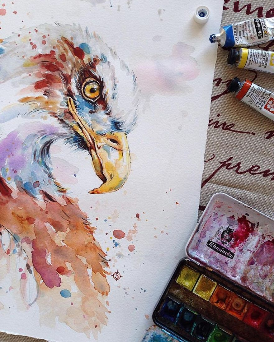 880x1100 Nature Inspired Watercolor Paintings By Than Sally