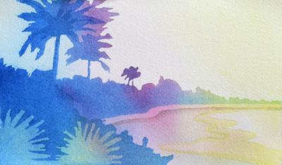 400x234 Paint A Sunset Landscape Using This Watercolor Technique!