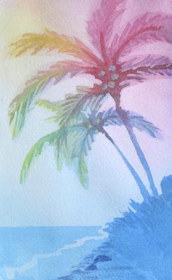 246x400 Palm Tree Painting