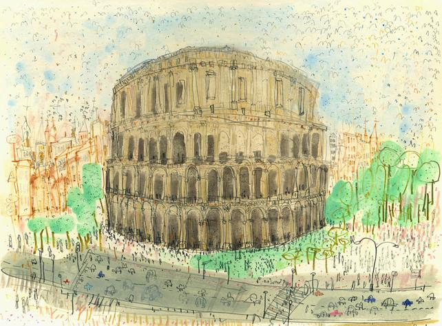 642x474 Colosseum Rome Art Rome Watercolour Signed Limited Edition Etsy