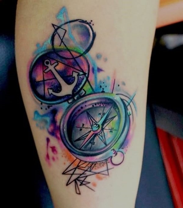 600x684 100 Awesome Compass Tattoo Designs Art And Design