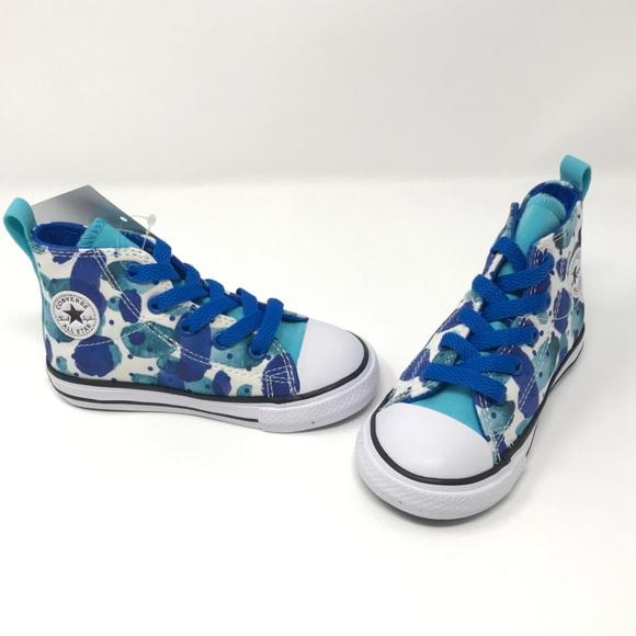 580x580 Converse Shoes Blue Watercolor Design Easy Slip Hi Top Poshmark