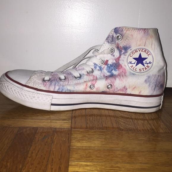 580x580 Converse Shoes Custom Watercolor High Tops Poshmark