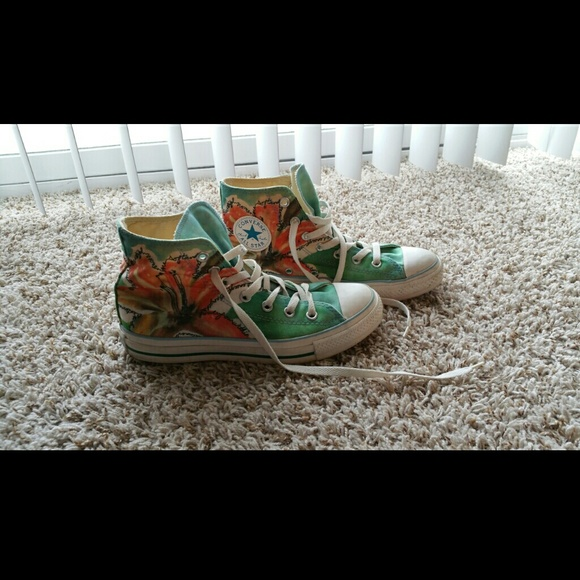 580x580 Converse Shoes Limited Edition High Top Watercolor Poshmark