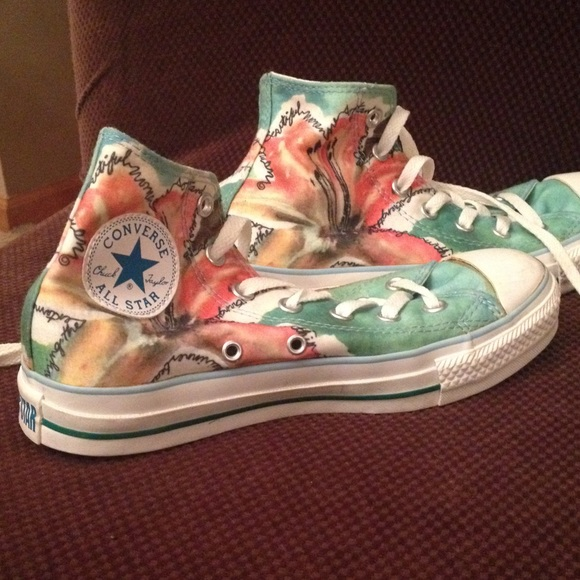 580x580 Converse Shoes Limited Edition Watercolor Flower Poshmark