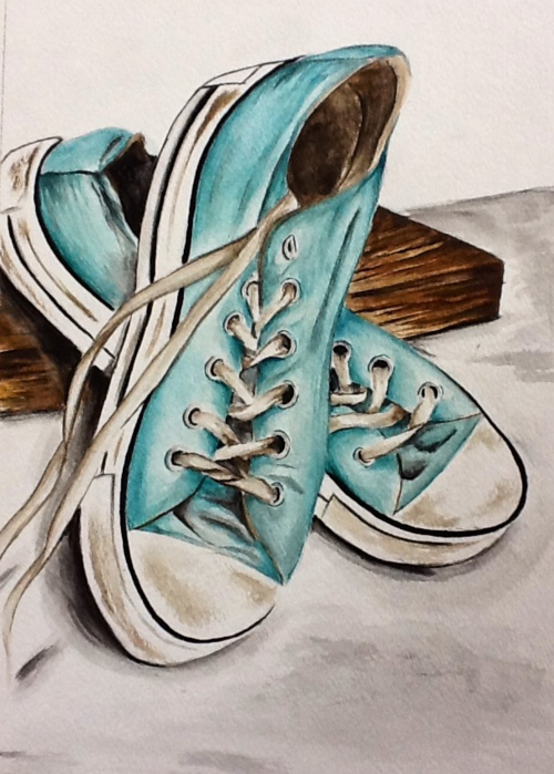 500x699 Watercolor Converse My Creations Converse