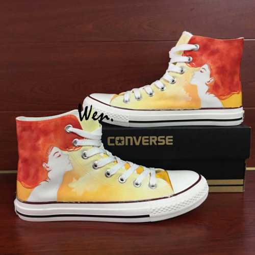 519a17c9aaf5 500x500 Woman Converse Hand Painted Shoes Watercolor Red Hair Lady