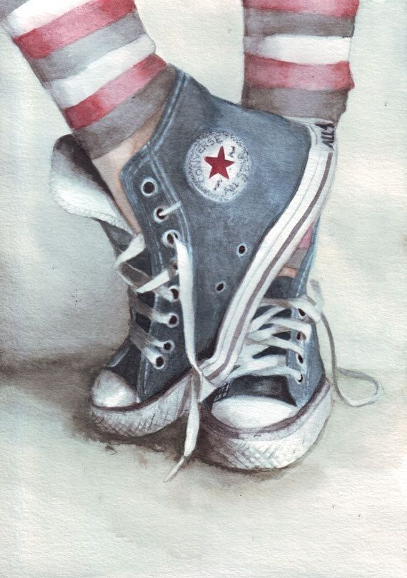 570x809 Converse Tennis Converse, Watercolor And Paintings
