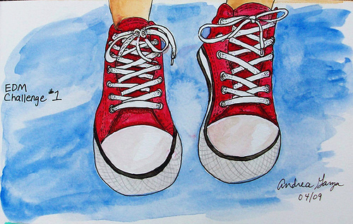 500x317 Converse All Stars In Watercolor I Finally Had The Nerve