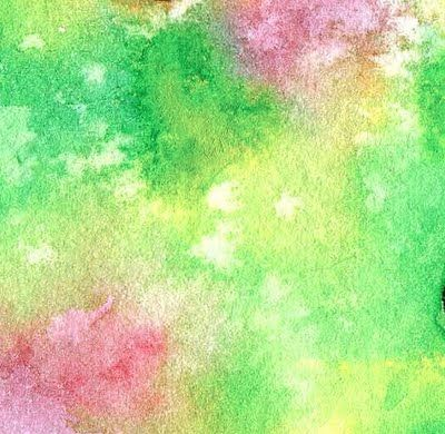 400x390 Watercolor Painting Sprinkled With Salt To Create This Cool Effect