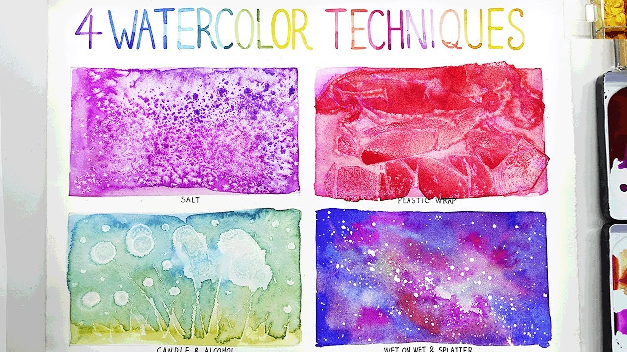 1280x720 Easy Watercolor Techniques For Beginners Best Painting Ideas