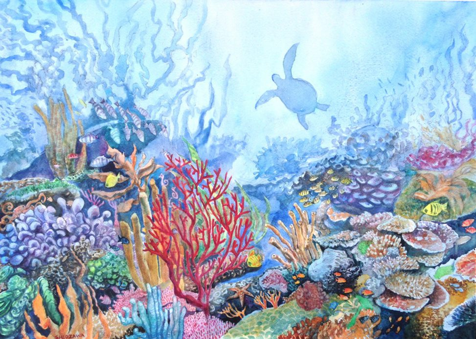973x692 In The Corals Sketches, Paintings And Studies Recent Art By Jun