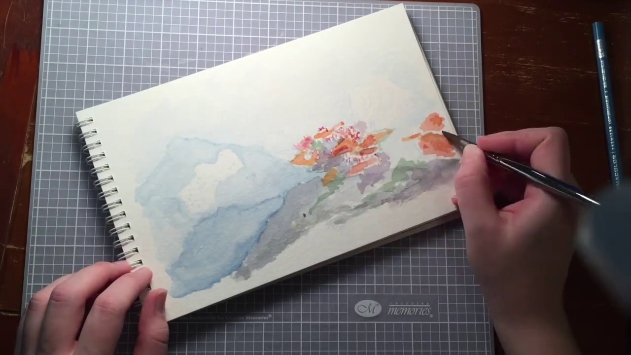 1280x720 Watercolor Coral Reef Painting
