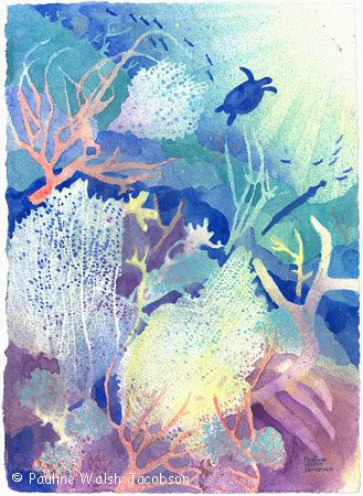 329x450 Watercolor Painting Coral Reef Dreams 2 Life Of Art