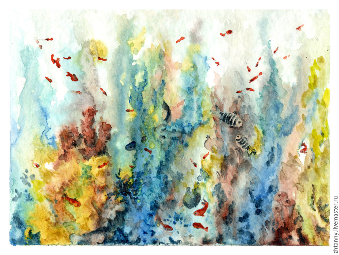 1179x885 Watercolorcoral Reef Shop Online On Livemaster With Shipping