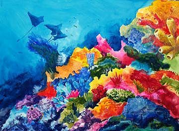 360x264 Watercolour Painting Of Sea Reef