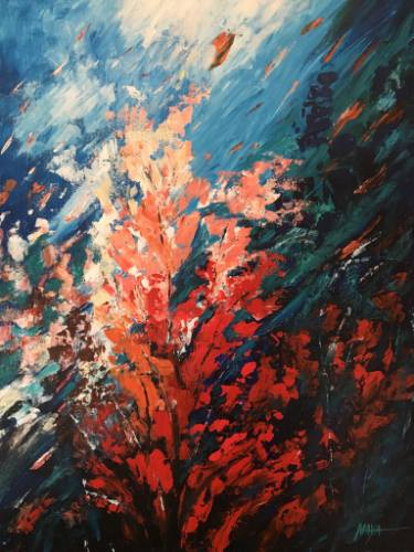 375x500 Coral Reef Painting By Maya Henaff Saatchi Art