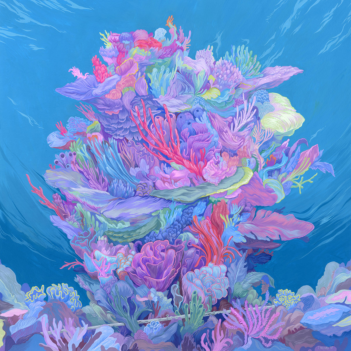 1200x1200 New Coral Reef Painting