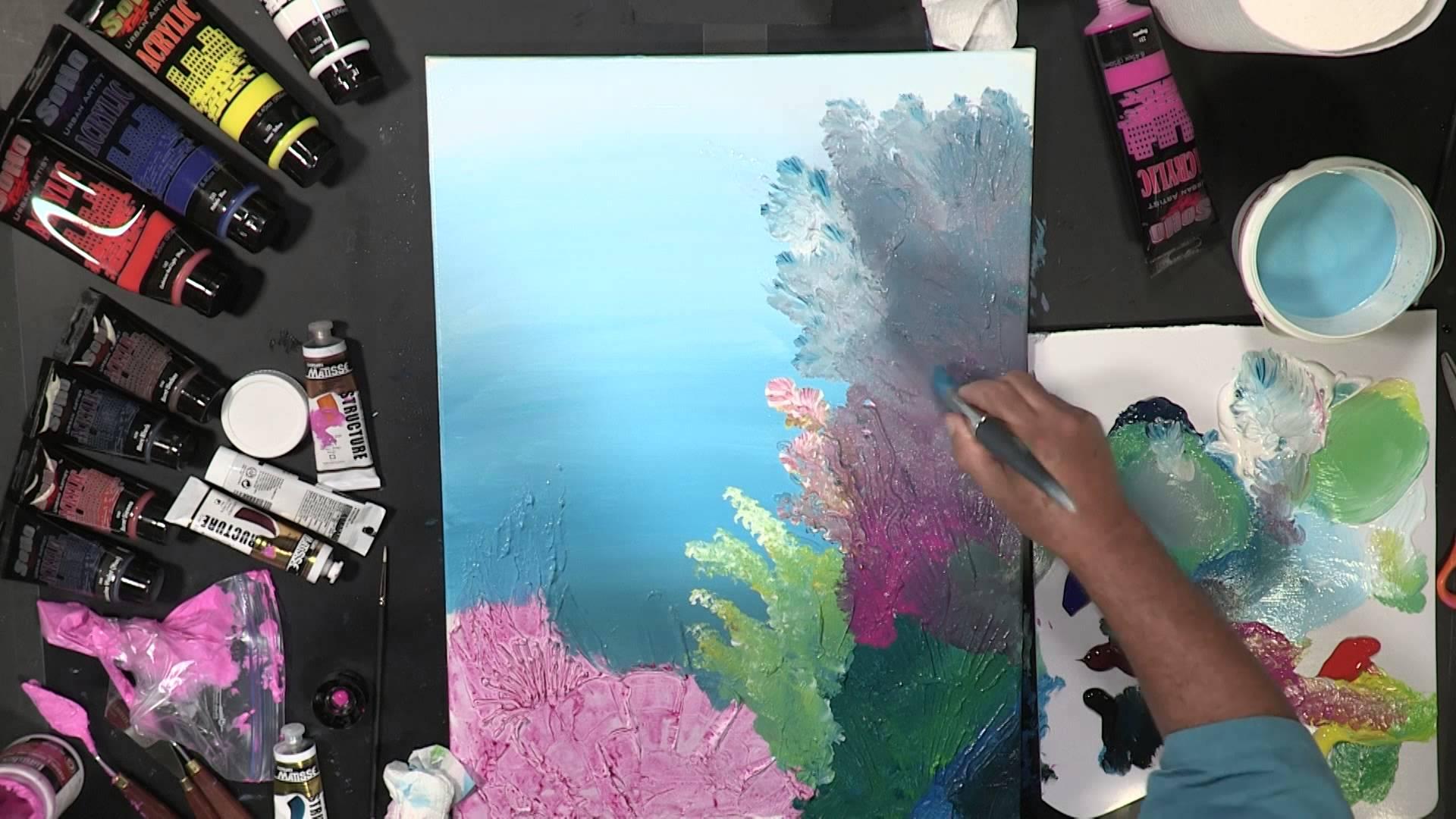 1920x1080 Painting Vivid Coral With Bob Rankin