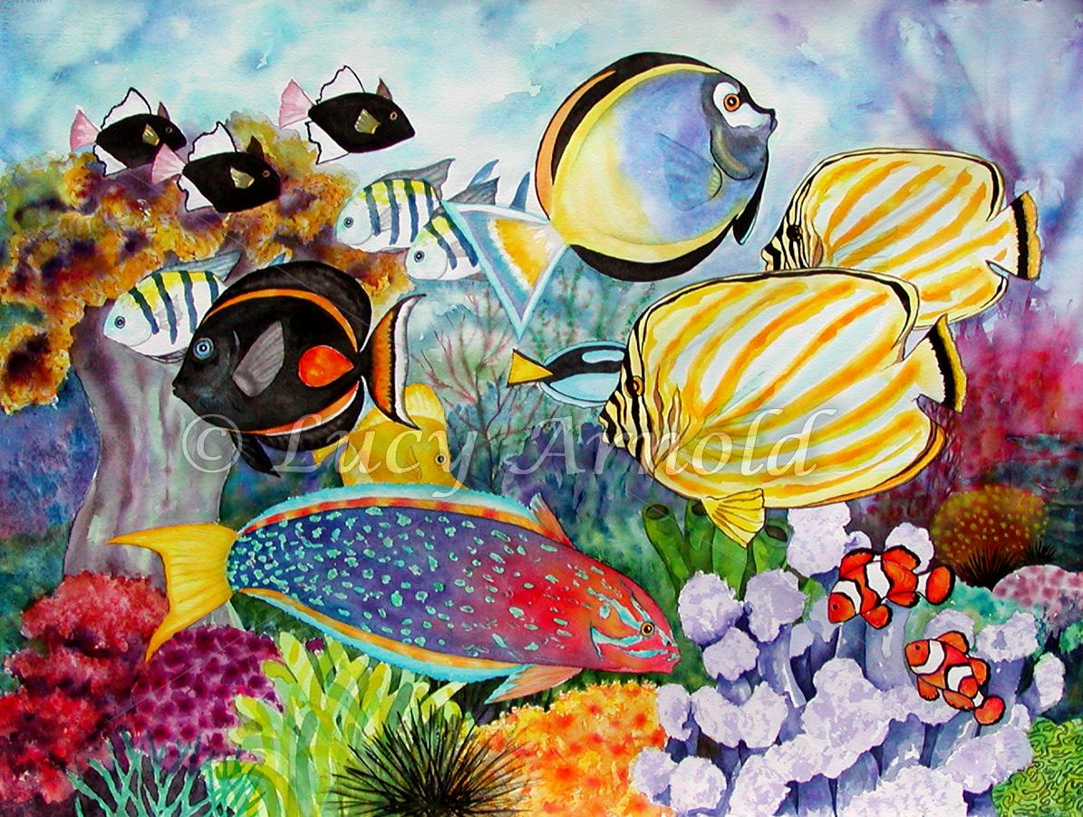 1195x901 Reef Scene Card