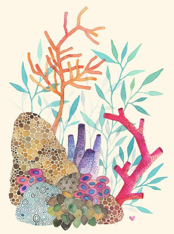 570x765 Arrecife De Coral 8 X 10 Por Anavicky En Etsy Inspired