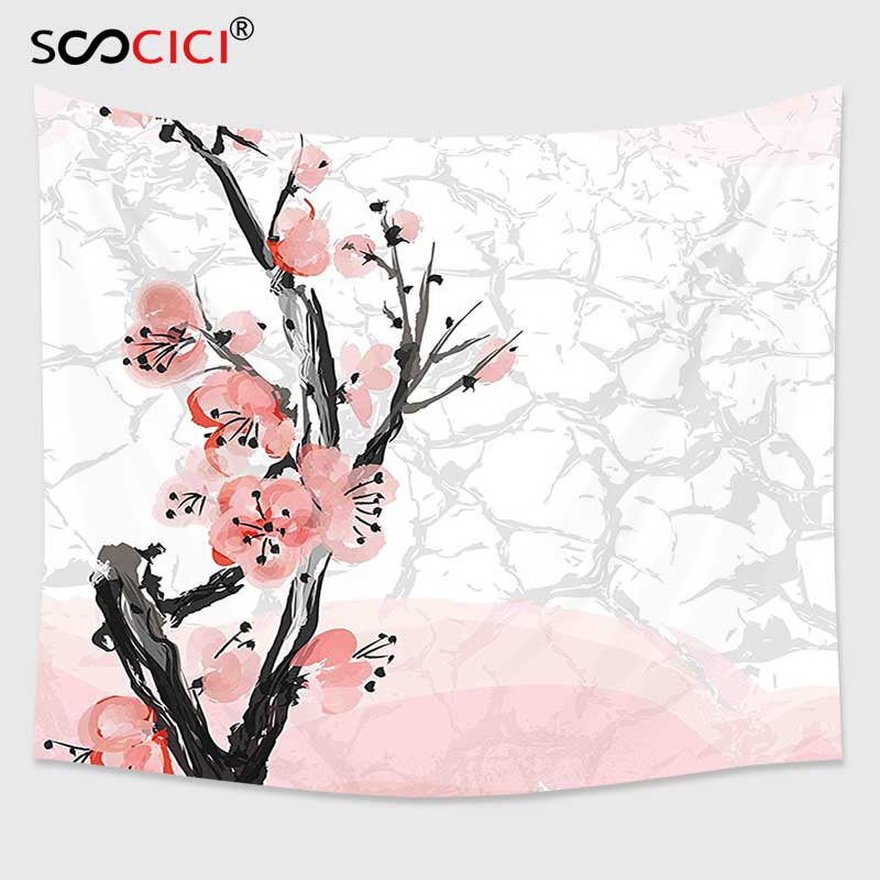 800x800 Cutom Tapestry Wall Hanging,floral Japanese Cherry Blossom Sakura