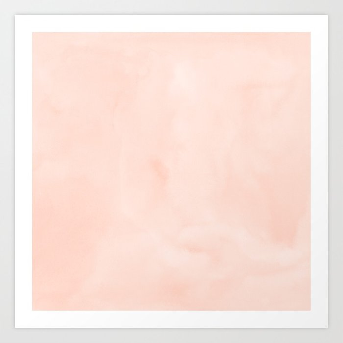 700x700 Simply Sweet Peach Coral Watercolor Art Print By Followmeinstead