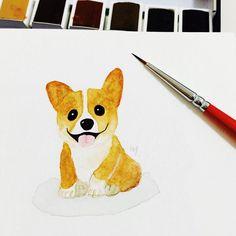 Corgi Watercolor
