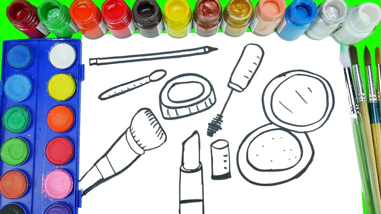 1280x720 Easy Cosmetic Coloring Pages Drawing Cosmetics