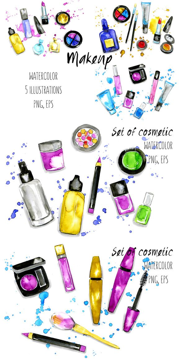 580x1157 Makeup Amp Cosmetics Illustrations Illustrations, Beauty