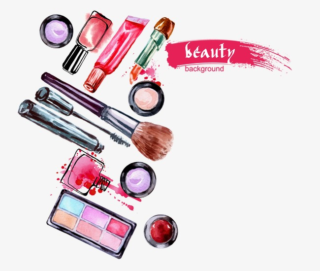 650x550 Cosmetic Set, Watercolor, Cosmetic, Beauty Png And Vector For Free