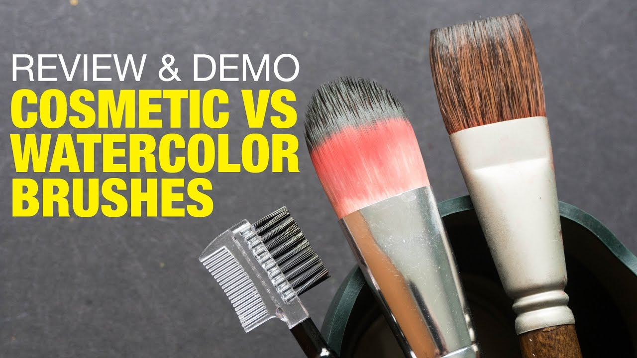 1280x720 Cosmetic Vs Watercolor Brushes