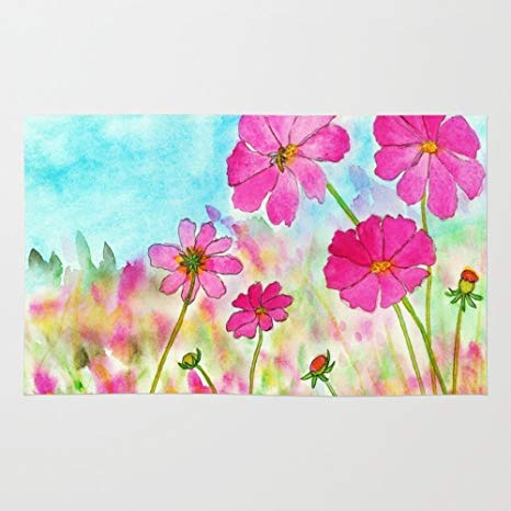 466x466 Society6 Symphony In Pink, Cosmos Wildflowers Art