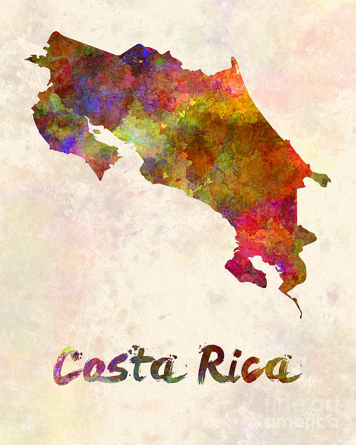 720x900 Costa Rica In Watercolor Painting By Pablo Romero