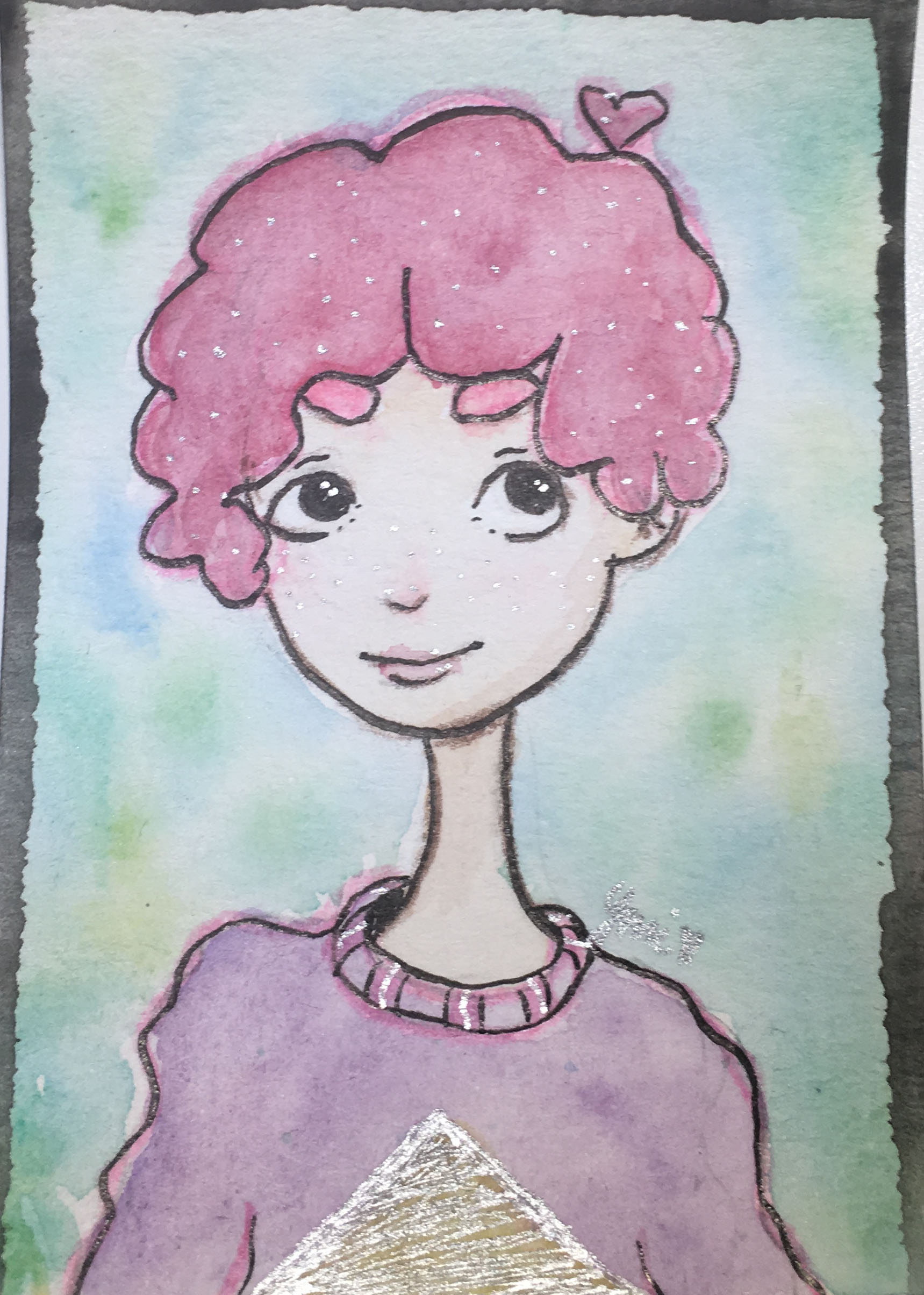 1719x2408 Cotton Candy Kid Original Watercolor Atcaeco Ymi Art Online