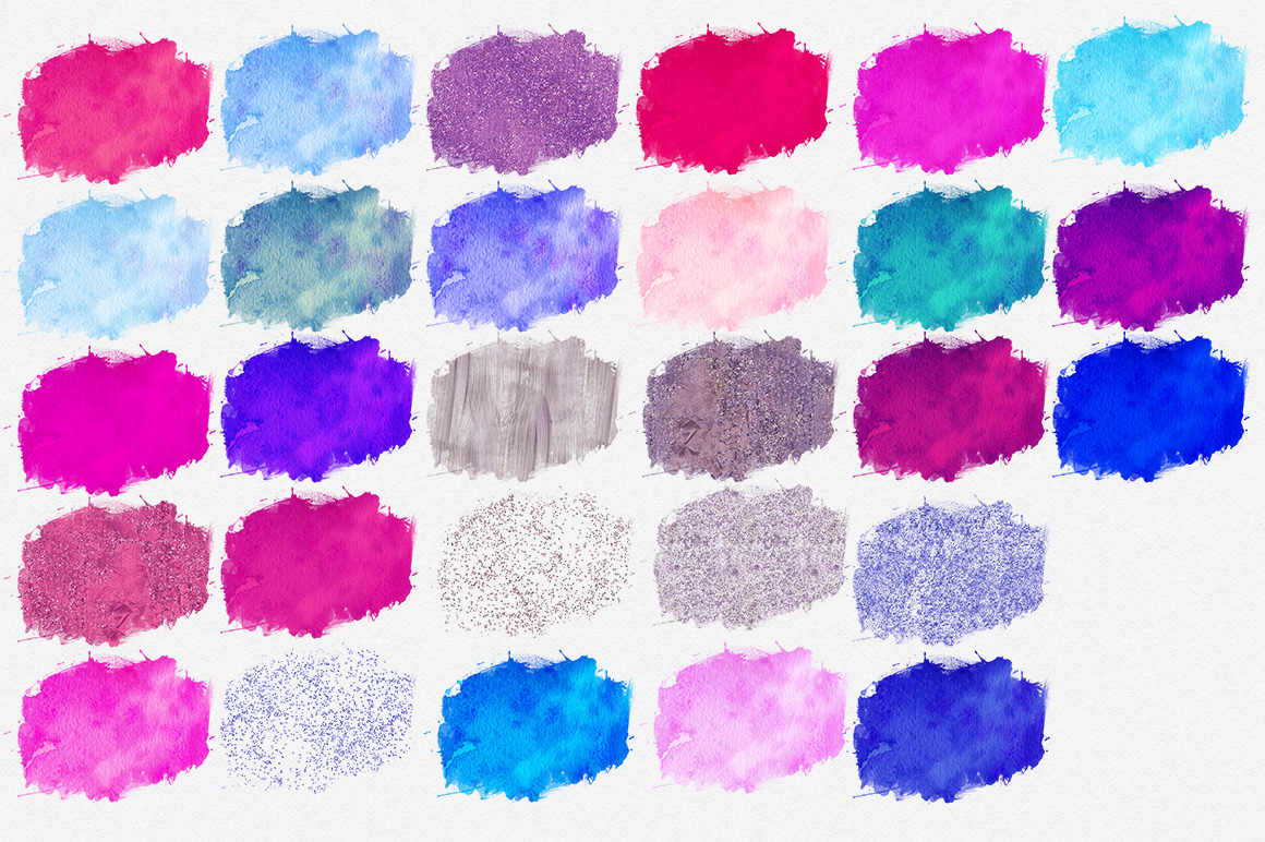 1160x772 Cotton Candy Watercolor Paint Splash Brush Strokes Amp Confetti By