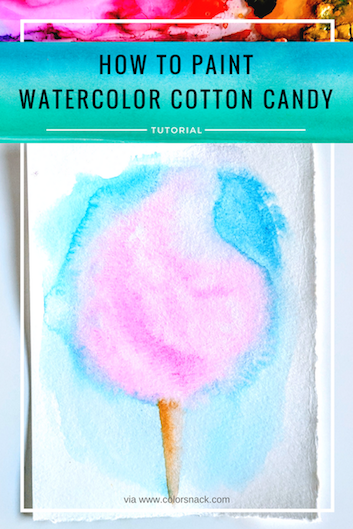 353x529 How To Paint Watercolor Cotton Candy (Step By Step Tutorial)