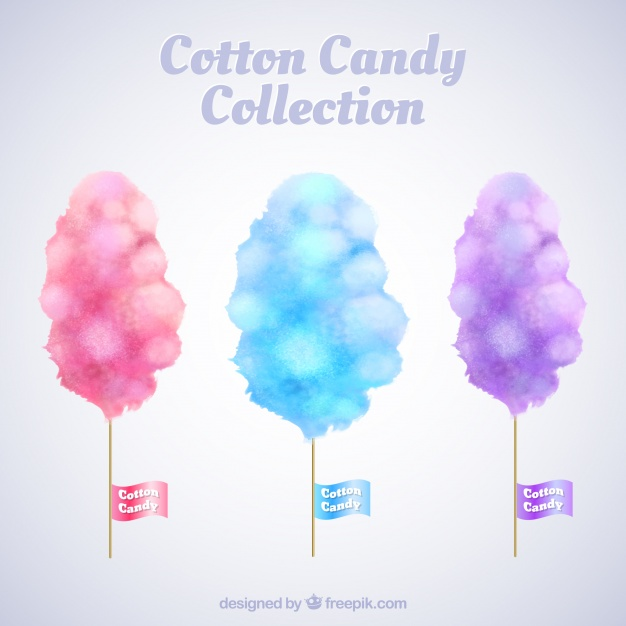 626x626 Watercolor Collection Of Cotton Cnady Vector Free Download