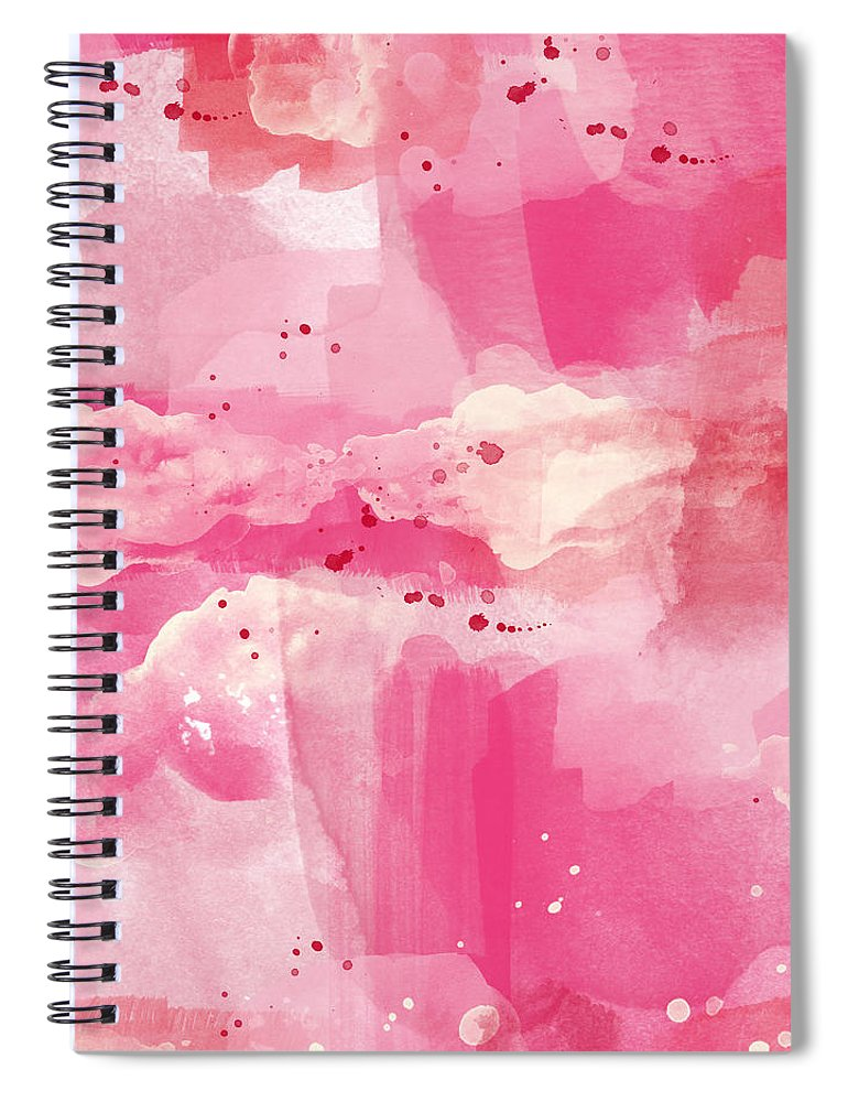 770x1000 Cotton Candy Clouds Abstract Watercolor Spiral Notebook For Sale