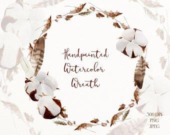 340x270 Cotton Clipart Wreath