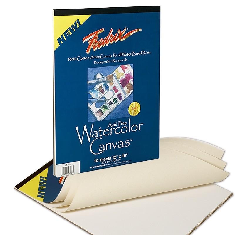 800x800 Fredrix Artist Watercolor Canvas Pads 100% Cotton