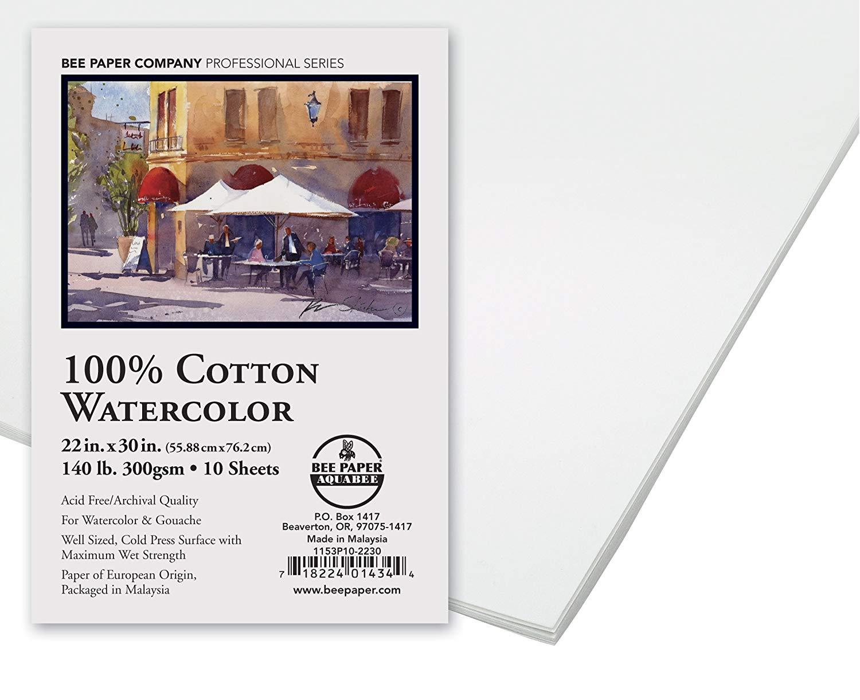 1500x1222 Bee Paper 1153p10 2230 Watercolor Sheet, 22 X 30