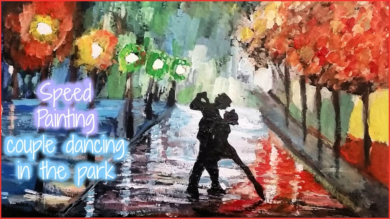 1280x720 Speed Painting (Recreation Of Couple Dancing In The Park)
