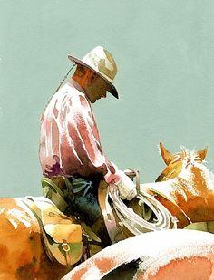 Cowboy Watercolor