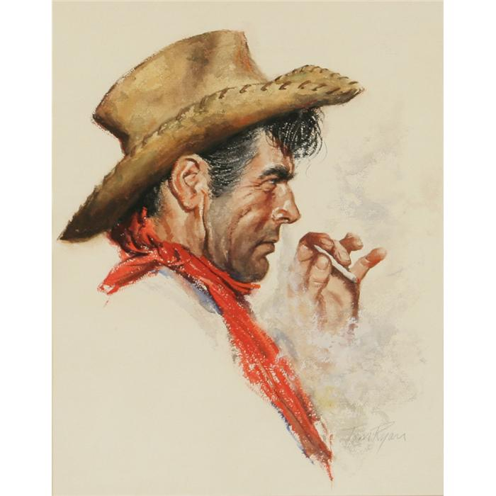 700x700 Tom Ryan, Watercolor And Acrylic. Cowboy Artists Of America.