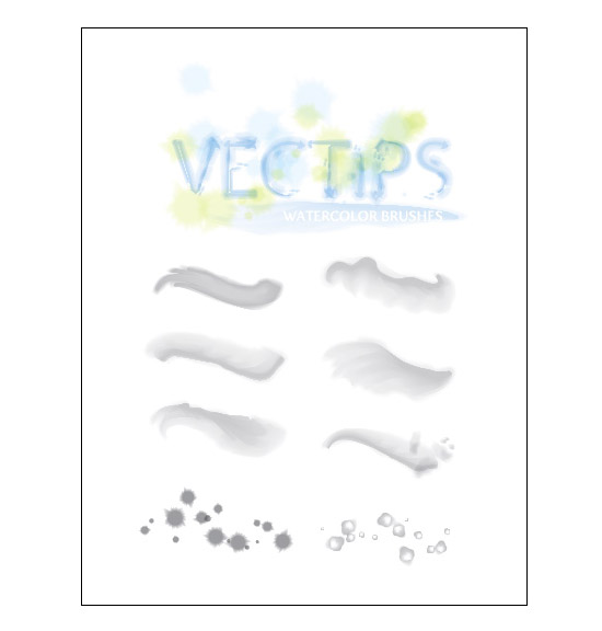 550x576 Free Watercolor Brushes And Tutorial