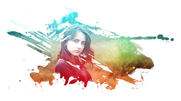 600x335 Photoshop Effects Create An Artistic Watercolor Effect In