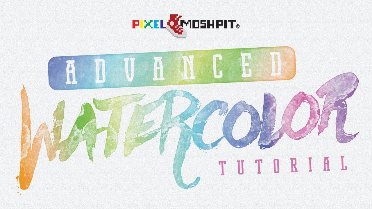 1280x720 Colorful Watercolor Vectors In Adobe Illustrator (Realistic)