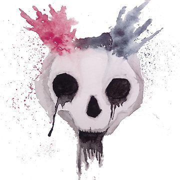 360x360 Creepy Watercolor Skull Classic T Shirt By Wheezywallaby Redbubble
