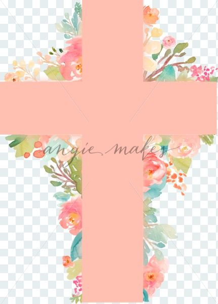 431x600 Download This Beautiful Easter Cross With Flowers